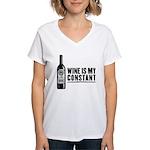 Wine Is My Constant Women's V-Neck T-Shirt