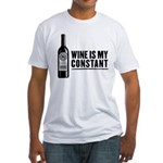 Wine Is My Constant Fitted T-Shirt