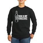 Wine Is My Constant Long Sleeve Dark T-Shirt