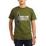 Wine Is My Constant Organic Men's T-Shirt (dark)