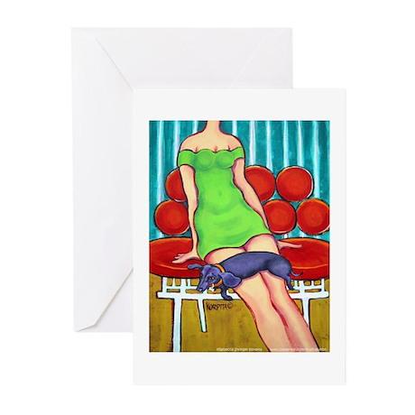 Mel & Schnitzel Dachshund Greeting Cards (Package