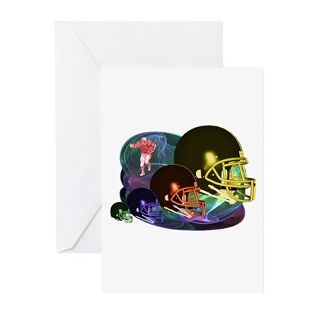 Many colored Helmets Greeting Cards (Pk of 20)