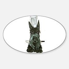 Scottish Terrier Chef Sticker (Oval)