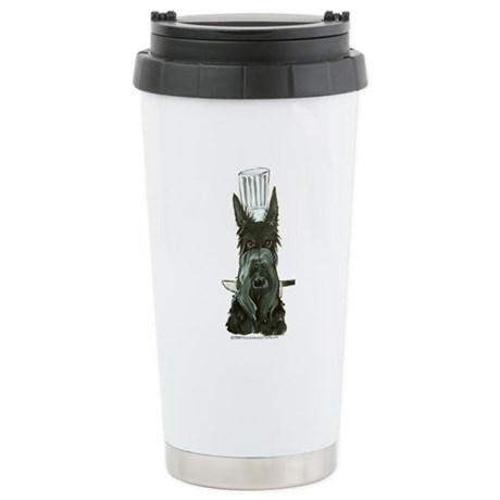 Scottish Terrier Chef Stainless Steel Travel Mug