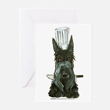 Scottish Terrier Chef Greeting Cards (Pk of 20)