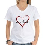 Love Sucks Women's V-Neck T-Shirt