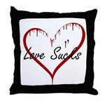 Love Sucks Throw Pillow