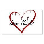 Love Sucks Sticker (Rectangle 10 pk)