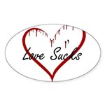 Love Sucks Sticker (Oval)