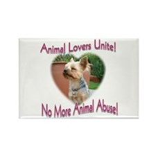 Animal Lovers Unite! Rectangle Magnet (10 pack)
