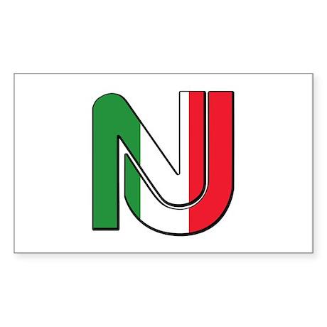 New Jersey Italian Rectangle Sticker