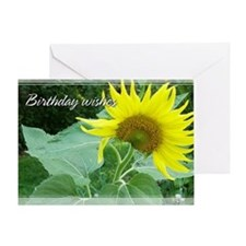 Sunflower Birthday Card 5x7