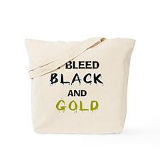 I Bleed Black and Gold Tote Bag