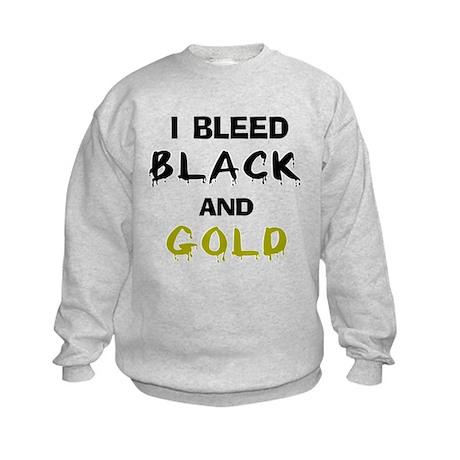 I Bleed Black and Gold Kids Sweatshirt