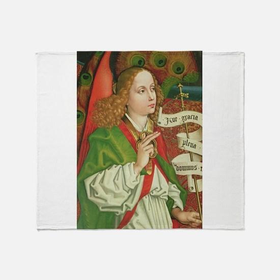 Archangel Gabriel - Annunciation - S Throw Blanket