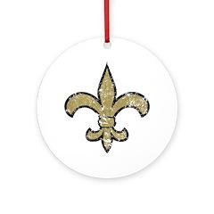 Fleur De Lis [vintage] Ornament (Round)