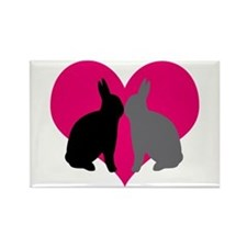 Unique Bunny day Rectangle Magnet