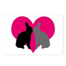 Cute Bunny day Postcards (Package of 8)