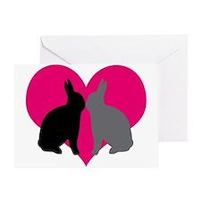 Unique Black rabbit Greeting Card
