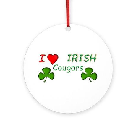 Love Irish Cougars Ornament (Round)