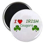 "Love Irish Cougars 2.25"" Magnet (10 pack)"