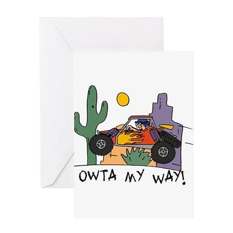 Fidget Desert Racer Greeting Card