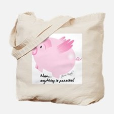 Cute When pigs fly Tote Bag
