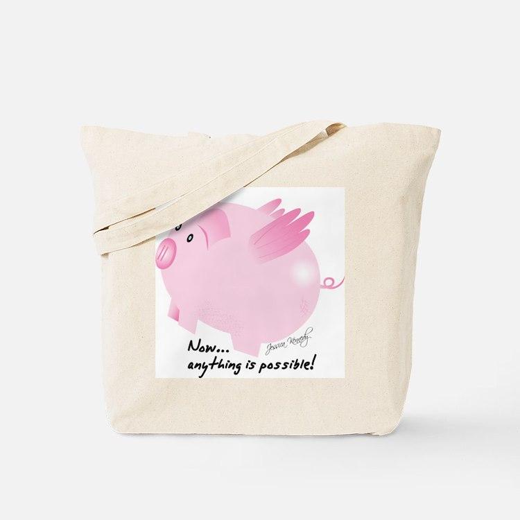 Cute Flying pig Tote Bag