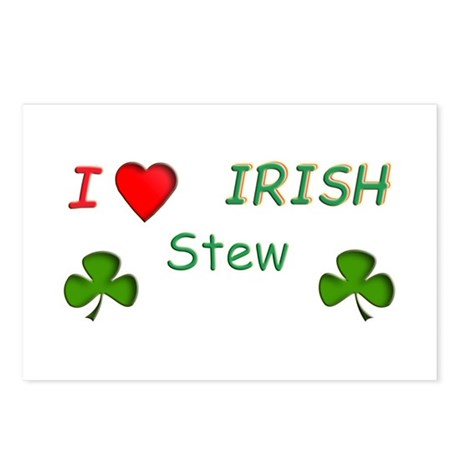 Love Irish Stew Postcards (Package of 8)