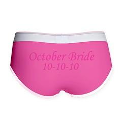 October Bride 10-10-10 Women's Boy Brief