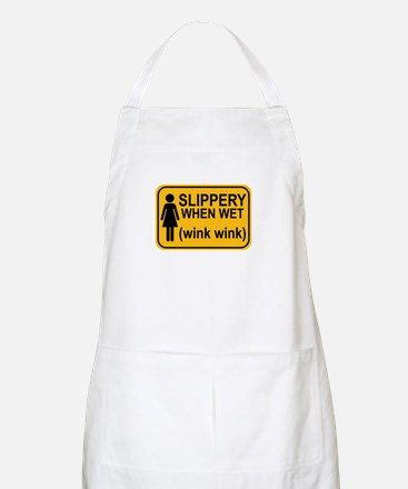 When Wet Odd Sign 1 Apron