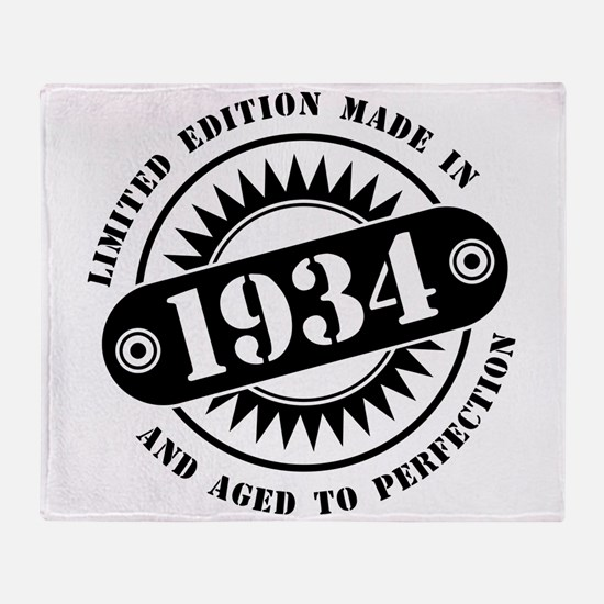 LIMITED EDITION MADE IN 1934 Throw Blanket