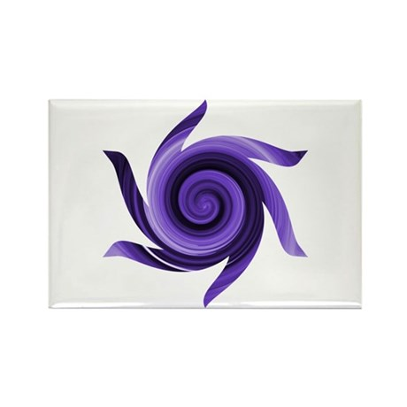 Purple Twirly Rectangle Magnet (10 pack)