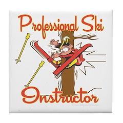 Ski Instructor Tile Coaster