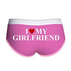 I Love My Girlfriend (heart) Women's Boy Brief
