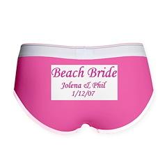Personalized Beach Bride - Jo Women's Boy Brief