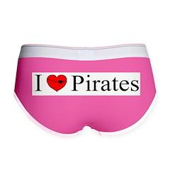 I heart Pirates Women's Boy Brief