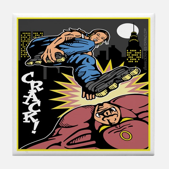 Roller Blade Hero Tile Coaster