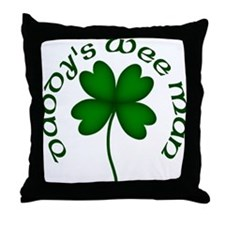 Daddy's Wee Man Throw Pillow
