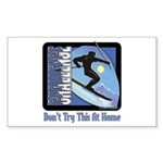 Skier Challenge Rectangle Sticker 10 pk)