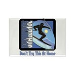 Skier Challenge Rectangle Magnet (10 pack)