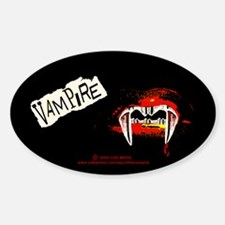 Vampire Punk Sticker (Oval)