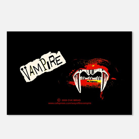 Vampire Punk Postcards (Package of 8)
