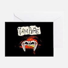 Vampire Punk Greeting Card