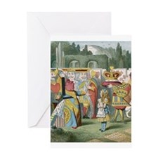 Alice and the Queen Greeting Card