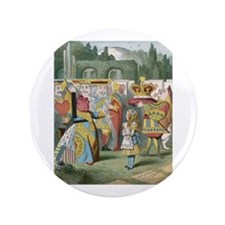 "Alice and the Queen 3.5"" Button"