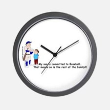 Baseball Parent Wall Clock