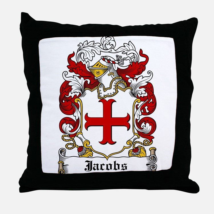 Jacobs Coat of Arms Throw Pillow