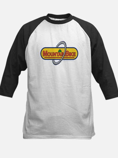Mountain Biker Kids Baseball Jersey