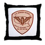 Border Patrol Del Rio SRT Throw Pillow